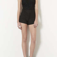 BLACK CORNELLI PLAYSUIT