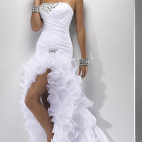 Strapless High Low Prom Dress by Flirt P4704