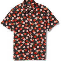 Raf Simons - Short-Sleeved Printed Cotton Shirt | MR PORTER