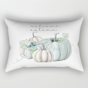 welcome autumn blue pumpkin Framed Art Print by Sylvia Cook Photography