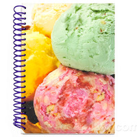 ICE CREAM SCOOPS SCENTED JOURNAL
