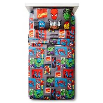 Marvel Avengers Sheet Set - Grey (Twin)