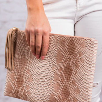 So Much Sass Clutch, Brown