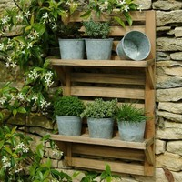 Wall Mounted Herb Rack & Pots