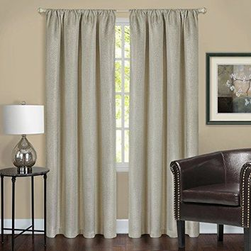 Ben&Jonah Collection Harmony Blackout Window Curtain Panel - 52x84 - Tan