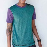 BDG Colorblock Burnout Crew Neck tee-