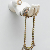 Hand Jewellery Hook in White - Urban Outfitters