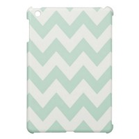 Light Green Chevron iPad Mini Case from Zazzle.com