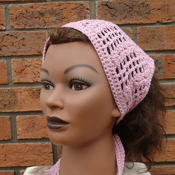 Crochet Bandana, Crochet Headband, Crochet Kerchief, Women Accessories,Bandana