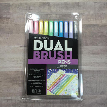 Tombow Dual Brush Pens - 10 piece Pastel Palette Pack