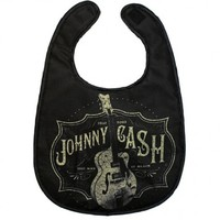 Johnny Cash Man In Black Baby Bib Punk Gothic Retro Rockabilly Pin Up