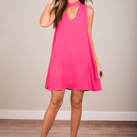 Pinch Me Dress, Hot Pink