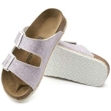 Sale Birkenstock Arizona Birko Flor Beach Purple 1004243 Sandals