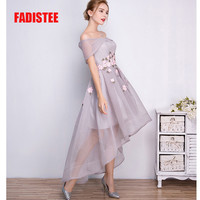 New arrival prom party Dresses high-low Vestido de Festa off the shoulder sexy dress appliques free shipping