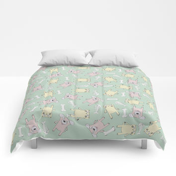 Raining Cats and Dogs Comforters by lalainelim
