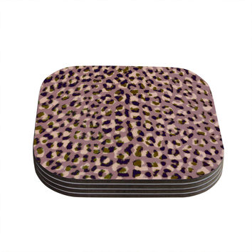 "Vasare Nar ""Leo Cheetah"" Animal Pattern Coasters (Set of 4)"
