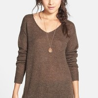 BP. Side Zip Tunic Sweater (Juniors) | Nordstrom