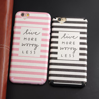 Silicone Phone Case For iphone 6 6s 6plus 6splus Funny Words Fashion Stipe Love Heart Silk Pattern Soft TPU Case