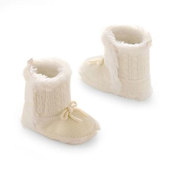 Carter's Faux-Fur Cable-Knit Crib Boots - Baby