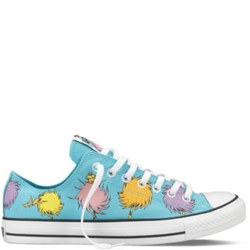 f04d454bdf56 The Lorax Blue Chuck Taylor Dr Seuss Shoes   Dr Seuss Converse