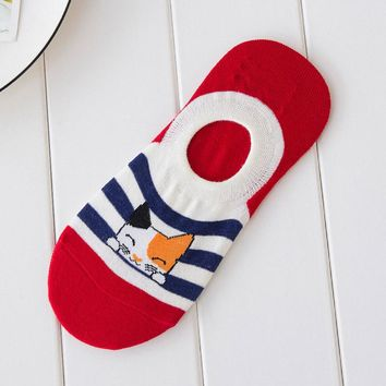 Animal Cat Low Cut Ankle Boat Socks Funny Crazy Cool Novelty Cute Fun Funky Colorful