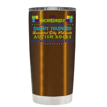 TREK An Amazing Smart Talented Kid with Autism on Copper 20 oz Tumbler Cup