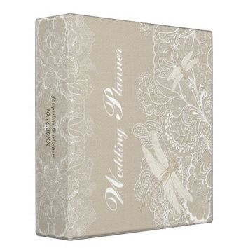 Burlap and Lace Rustic Wedding Planner Binder