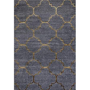 4158 Gold Moroccan Lattice Area Rugs