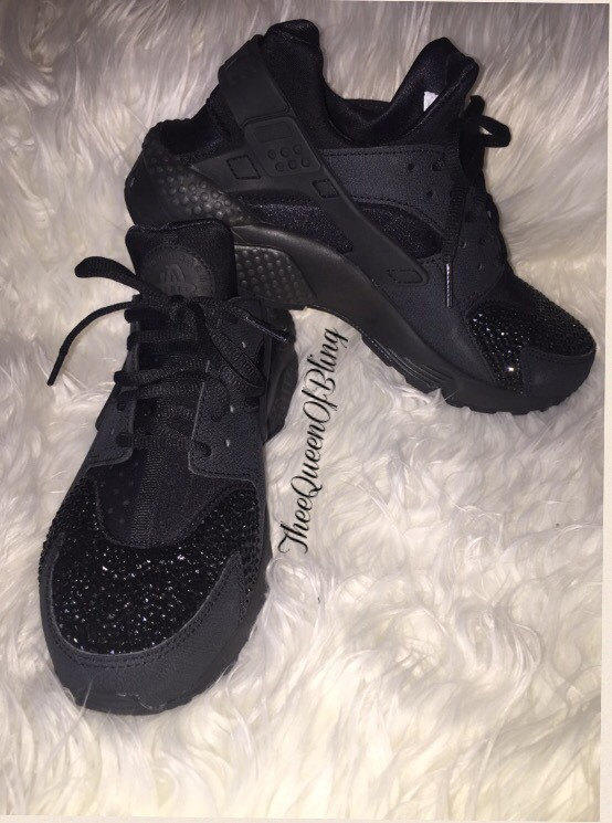 black huaraches with glitter off 63