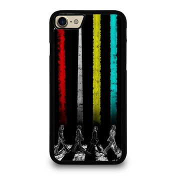 THE BEATLES COLOR ROAD iPhone 4/4S 5/5S/SE 5C 6/6S 7 8 Plus X Case