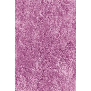 LA Rugs Soft Shaggy Collection Pink Area Rug