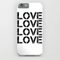 LOVE 1 iPhone & iPod Case by White Print Design