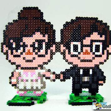 Animal Crossing Villager Couple - Geek Gamer Custom Wedding Cake Toppers