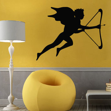 Wall Decals Vinyl Decal Sticker Valentines Decor Angel Cupid With a Bow Kj833