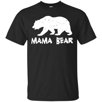 Mama Bear Funny Matching T-Shirt for Mom, Great Gift
