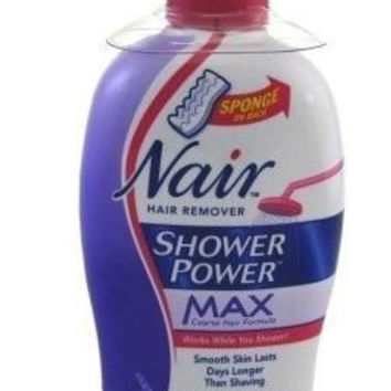 Nair Hair Remover Shower Power Max Cream - 13 oz, Pack of 2