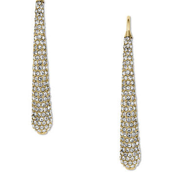 Michael Kors Gold-Tone and Clear Stone Statement Drop Earrings