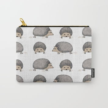 Hedgehog rush Carry-All Pouch by Krusidull Illustrations