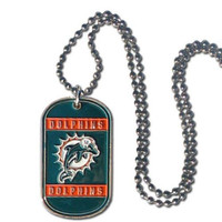 Miami Dolphins Sport Tagz Dog Tag Necklace