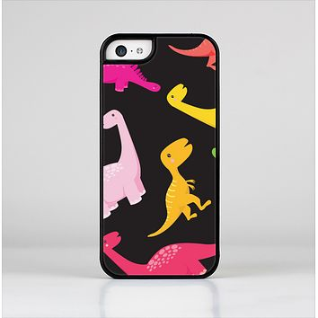 The Vector Neon Dinosaur Skin-Sert for the Apple iPhone 5c Skin-Sert Case