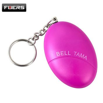 Personal Protection CuBlack Egg Shape Self-Defense Alarm Protect Women/Girl Alarm System Scream Loud Anti-Attack Keychain