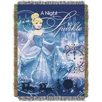 Disney's Princessed Cinderella A Night to Sparkle  Triple Woven Jacquard Throw (48x60)