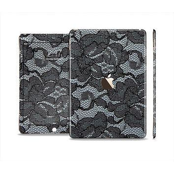 The Black Lace Texture Skin Set for the Apple iPad Air 2