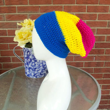 Pansexual Pride Slouch Beanie