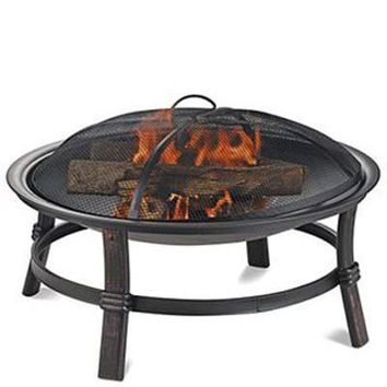 Uniflame 17 Inch Wood Burning Metal Firebowl
