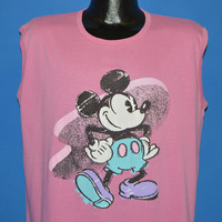 80s Mickey Mouse Sleeveless Disney t-shirt Extra Large