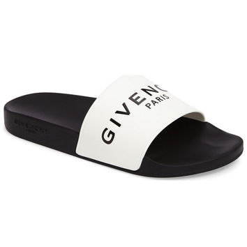 White Slide Sandals by Givenchy