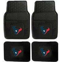 Front & Rear Car Truck SUV Vinyl Car Floor Mats - Houston Texans