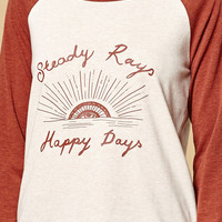 MinkPink Steady Rays Long Sleeve Raglan T-Shirt at PacSun.com