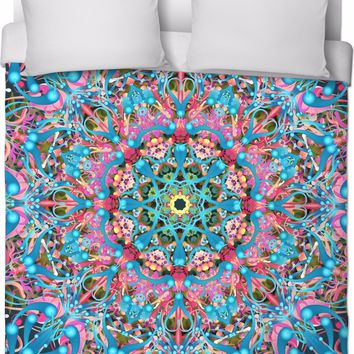 'Mandala Love in Turquoise' Duvet Covers